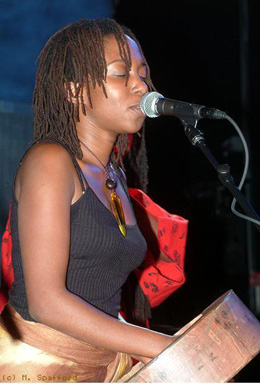 Chiwoniso Maraire med sin mbira